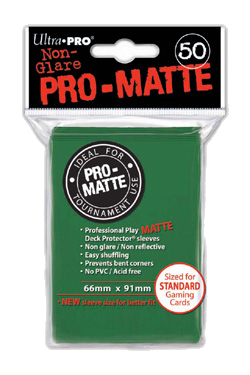 Pro-Matte Card Sleeve (Green) (x50) | Magic: The Gathering | Card Sleeves