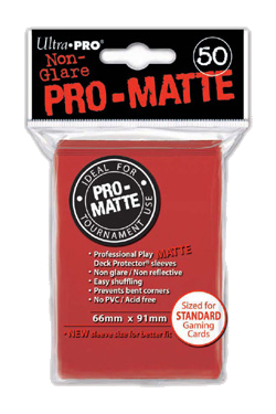 Pro-Matte Card Sleeve (Red) (x50) | Magic: The Gathering | Card Sleeves