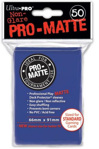 Pro-Matte Card Sleeve (Blue) (x50) | Magic: The Gathering | Card Sleeves