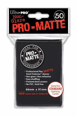 Pro-Matte Card Sleeve (Black) (x50) | Magic: The Gathering | Card Sleeves