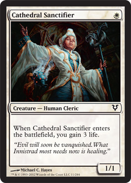 Cathedral Sanctifier | Magic: The Gathering Card