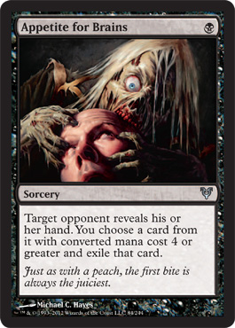 Appetite for Brains | Magic: The Gathering Card