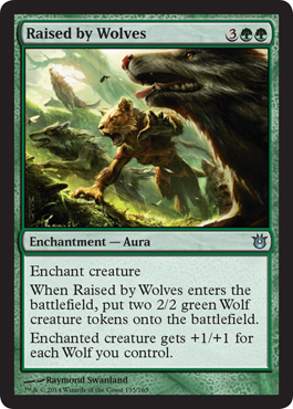 Raised by Wolves | Magic: The Gathering Card