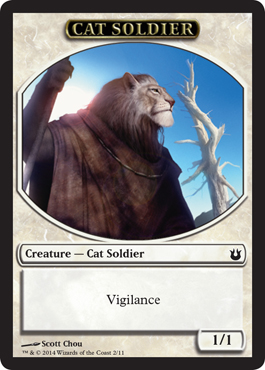 Cat Soldier Token in Born of the Gods