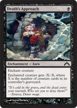Death's Approach | Magic: The Gathering Card