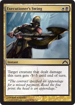 Executioner's Swing | Magic: The Gathering Card