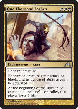 One Thousand Lashes | Magic: The Gathering Card