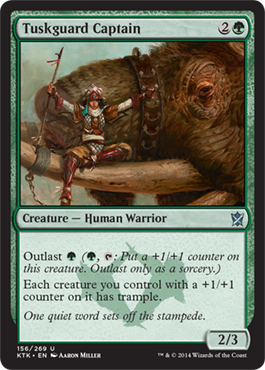 Tuskguard Captain | Magic: The Gathering Card