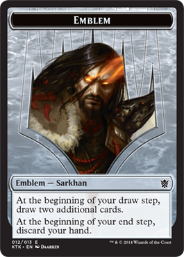 Emblem - Sarkhan, the Dragonspeaker | Magic: The Gathering Card
