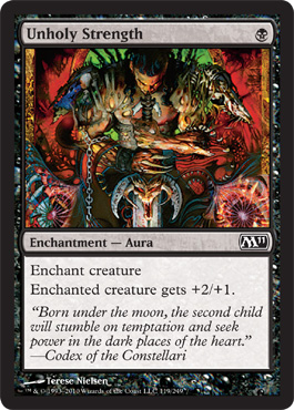 Unholy Strength | Magic: The Gathering Card