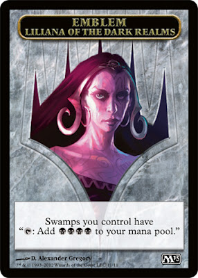 Emblem - Liliana of the Dark Realms | Magic: The Gathering Card