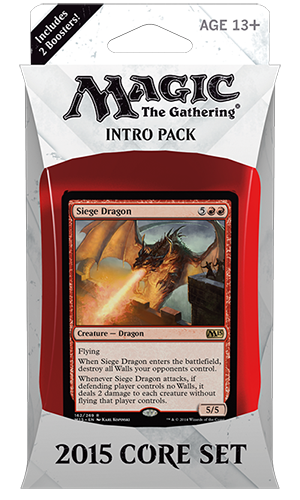 Magic 2015 Core Set (M15) Flames of the Dragon Intro Deck