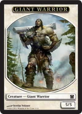 Giant Warrior Token | Magic: The Gathering Card