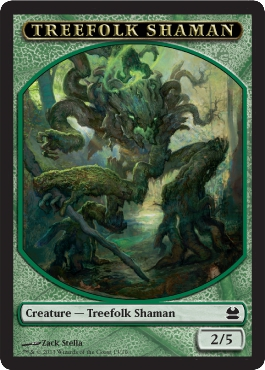 Treefolk Shaman Token | Magic: The Gathering Card