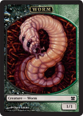Worm Token | Magic: The Gathering Card