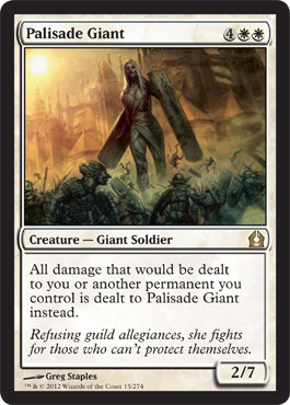 Palisade Giant | Magic: The Gathering Card