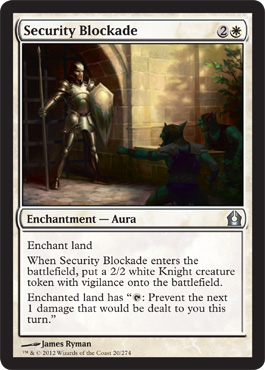 Security Blockade | Magic: The Gathering Card
