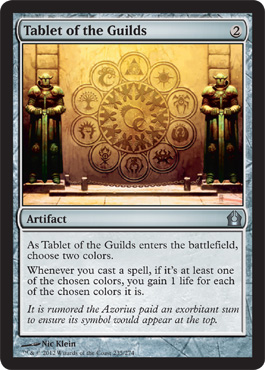 Tablet of the Guilds | Magic: The Gathering Card