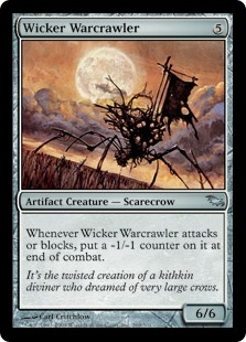 Wicker Warcrawler | Magic: The Gathering Card