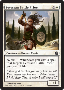 Setessan Battle Priest | Magic: The Gathering Card