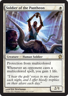 Soldier of the Pantheon | Magic: The Gathering Card