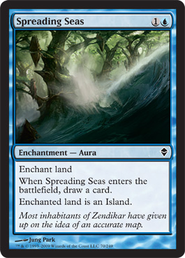 Spreading Seas | Magic: The Gathering Card