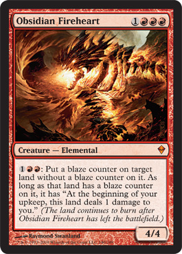 Obsidian Fireheart | Magic: The Gathering Card