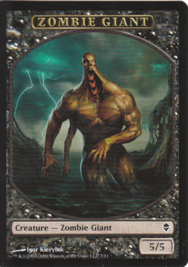 Zombie Giant Token | Magic: The Gathering Card
