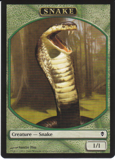 Snake Token | Magic: The Gathering Card
